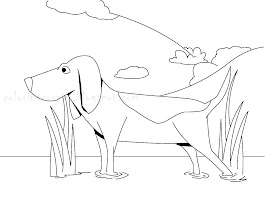 Realistic Dog Coloring Pages Free