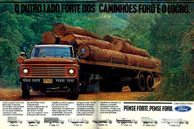 propaganda caminhão Ford - 1978.  brazilian advertising cars in the 70s; os anos 70; história da década de 70; Brazil in the 70s; propaganda carros anos 70; Oswaldo Hernandez;