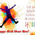 Happy Holi Greetings Card For Brother | Beautiful Holi Greeting Cards For Facebook