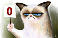 "grumpy cat says ""0 out of 10"""