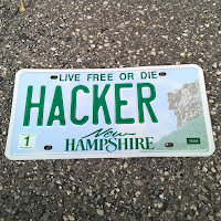 nh hacker license plate New Hampshire
