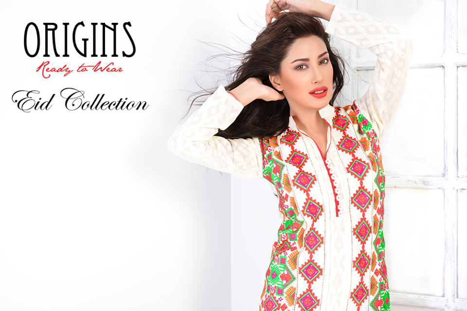 Eid dresses collection 2014 by origins ready to wear the for Bano market faisalabad dresses