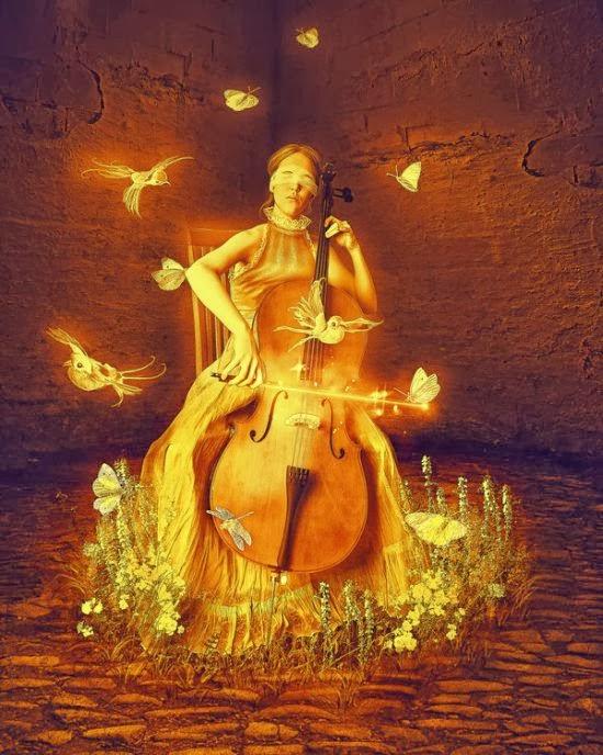 Lilia Osipova deviantart manipulação digital photoshop ilustrações fantasia surreal psicodelia Música