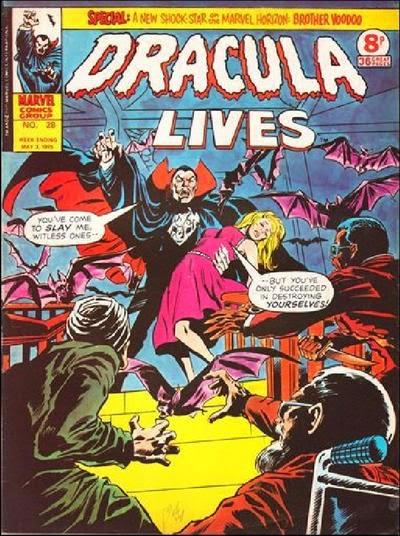 Marvel UK Dracula Lives #28