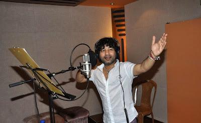 Kailash Kher at studio