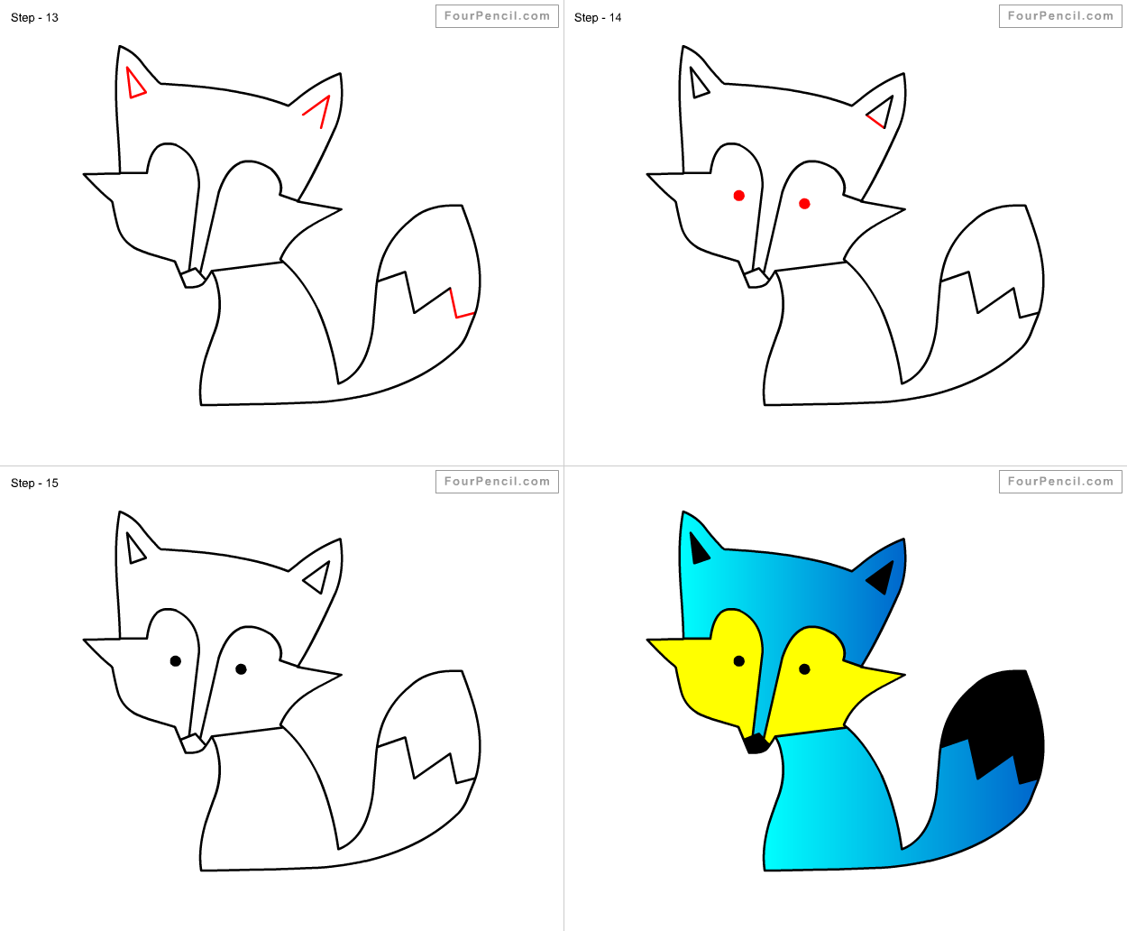 Fpencil: How... How To Draw A Fox For Kids