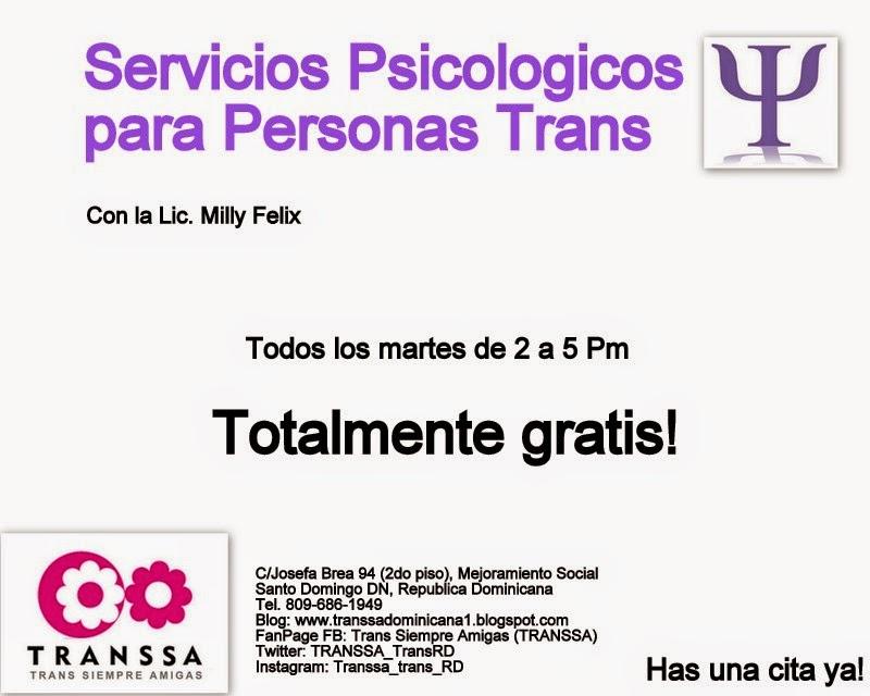 Servicios Psicológicos para Personas Trans.