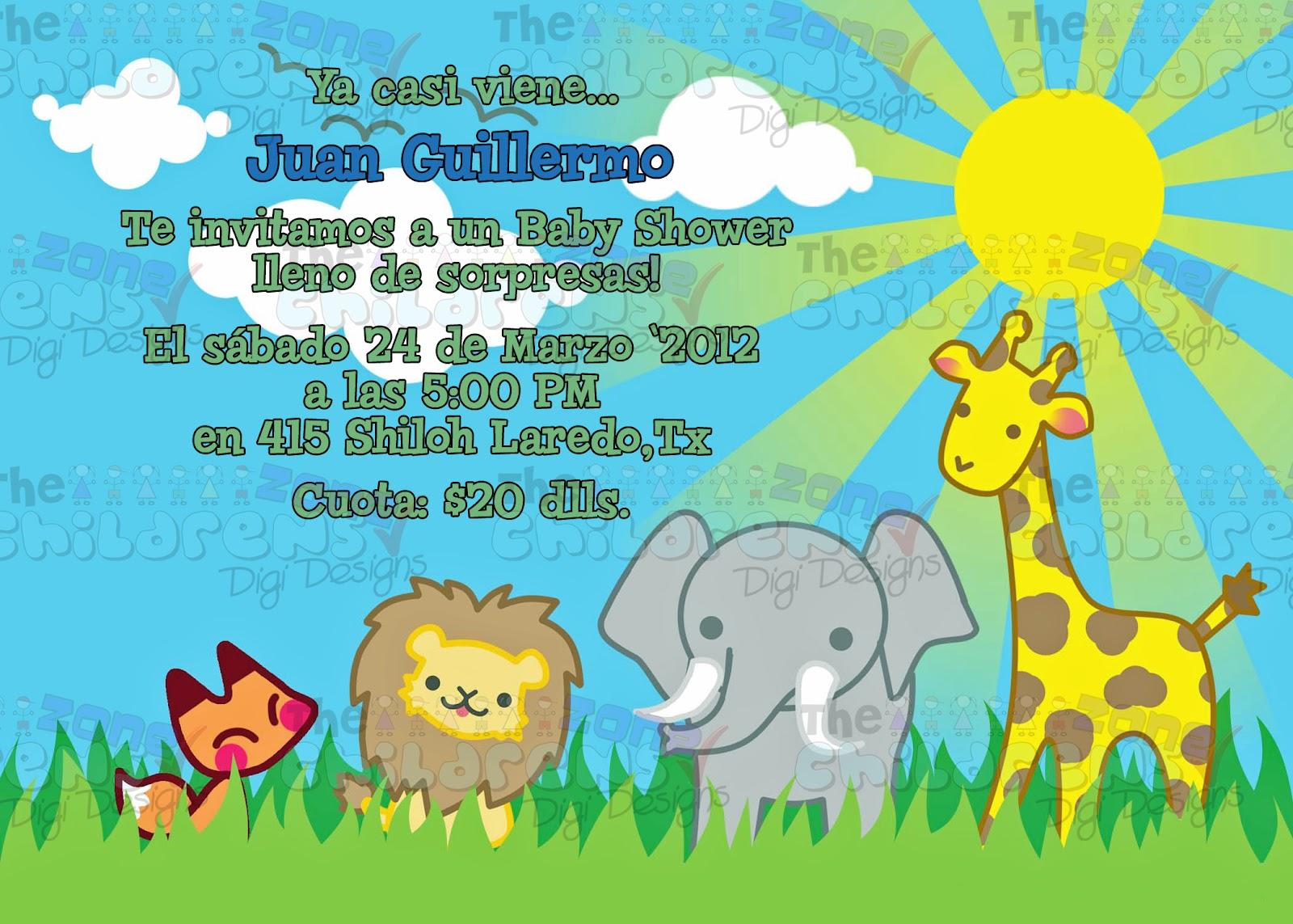 Imprimir Invitaciones De Safari Para Baby Shower