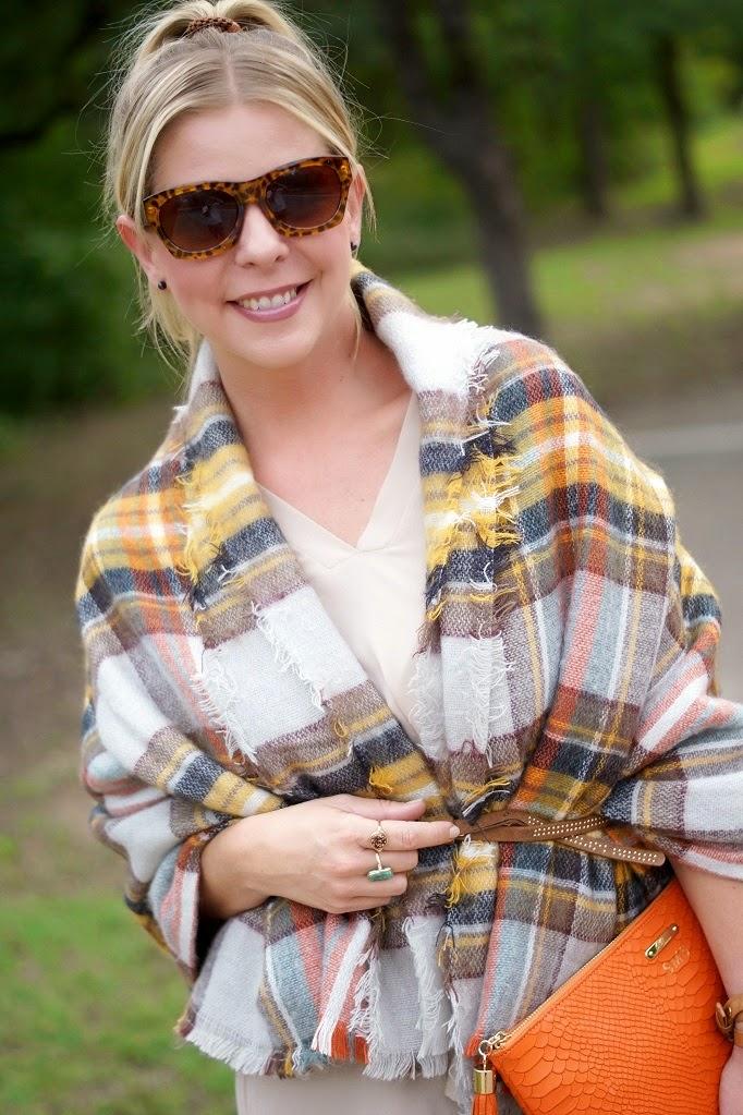 Zara plaid oversized blanket scarf for fall