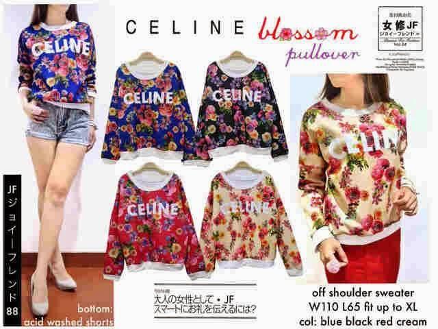 Celine Floral, baju floral, baju murah online, toko jual baju wanita