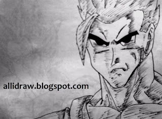 Teen Gohan Sketch by Maninder Pal Singh