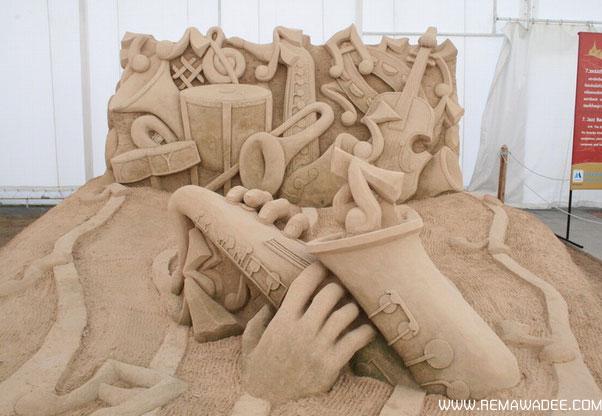 ประติมากรรมทรายในร่มที่ใหญ่ที่สุดในโลกจังหวัดฉะเชิงเทรา