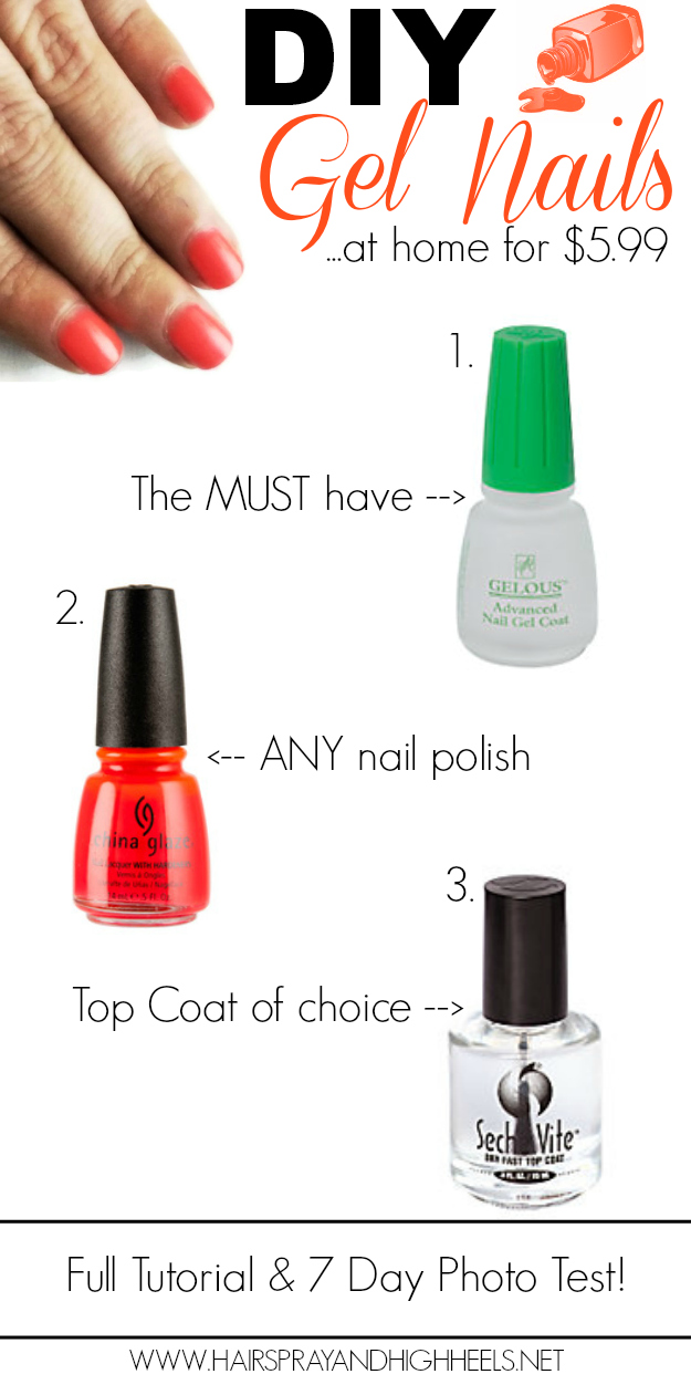 DIY Gel Nails - Hairspray and Highheels