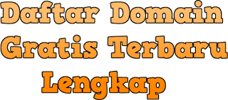 Daftar Domain Gratis Terbaru
