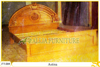 Tempat tidur kayu jati ukir jepara Astina murah.Jakarta