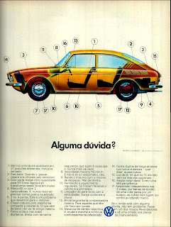 propaganda Volkswagen 1600 TL - 1972;  1972; brazilian advertising cars in the 70s; os anos 70; história da década de 70; Brazil in the 70s; propaganda carros anos 70; Oswaldo Hernandez;