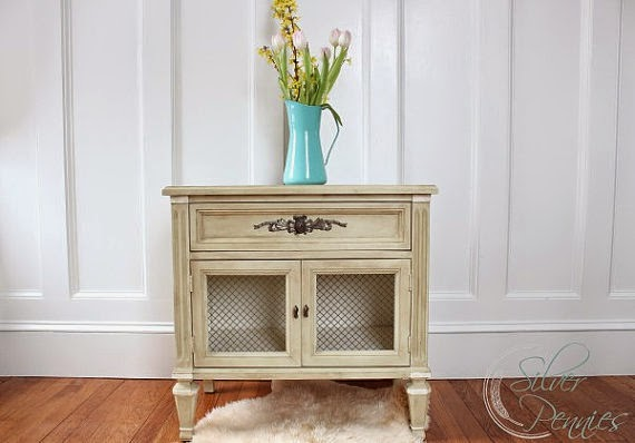 French Night Stand by Finding Silver Pennies via http://www.prodigalpieces.com