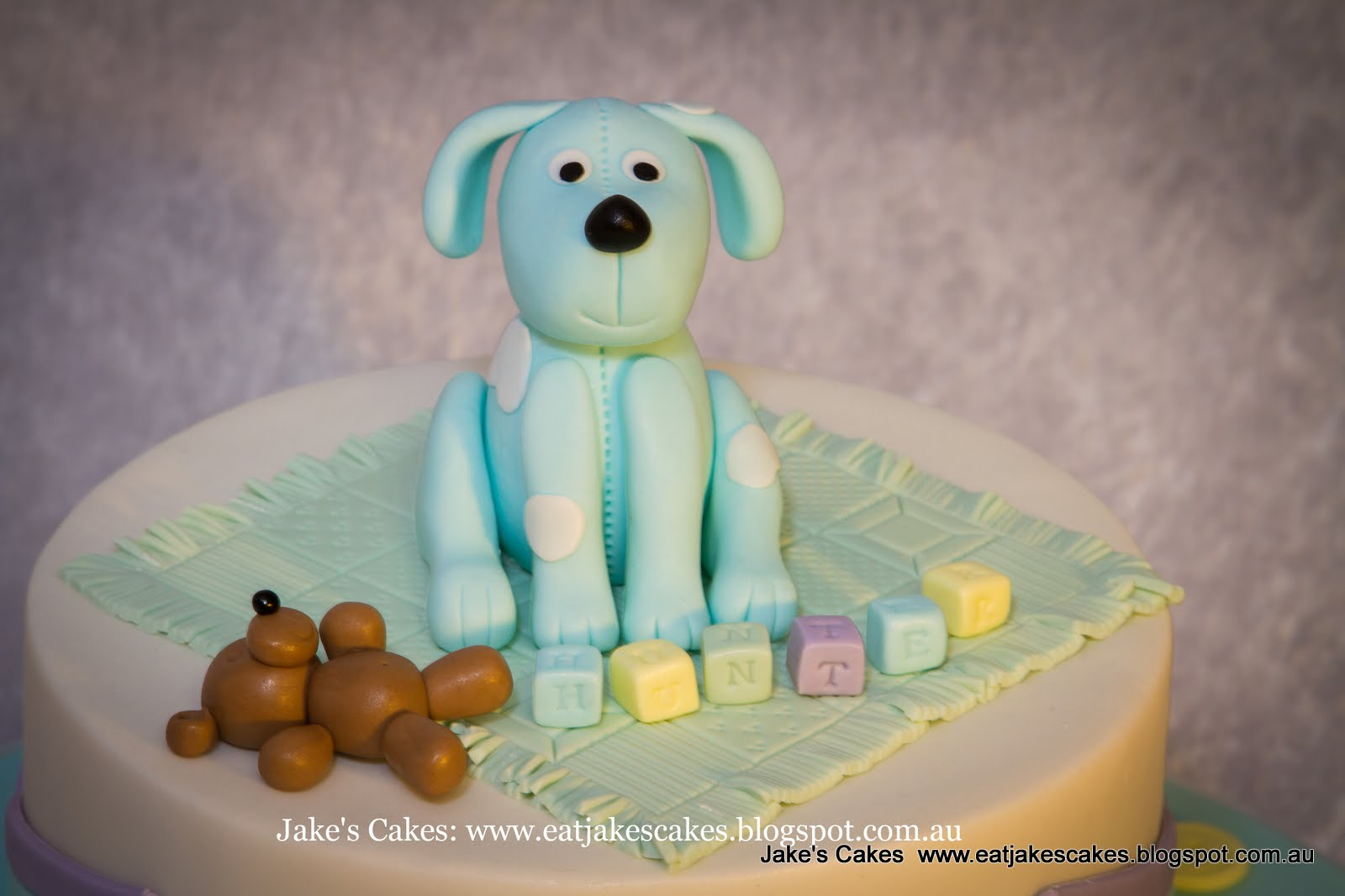 Jakes Cakes Puppy Dog First Birthday Cake In Pastels