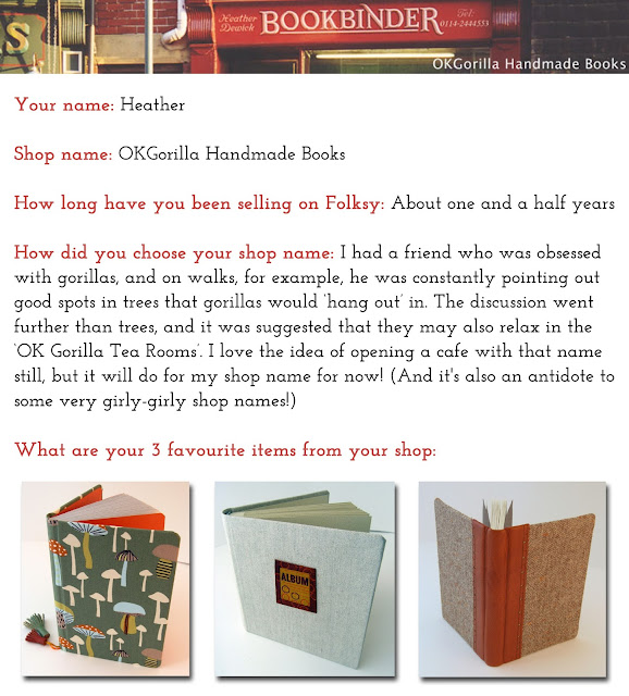 OKGorilla Handmade Books Folksy Shop