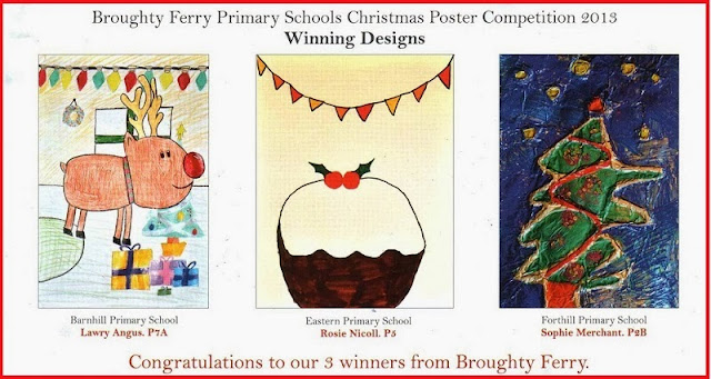 Christmas Poster Competition Winners 2013 from our three Broughty Ferry Primary Schools