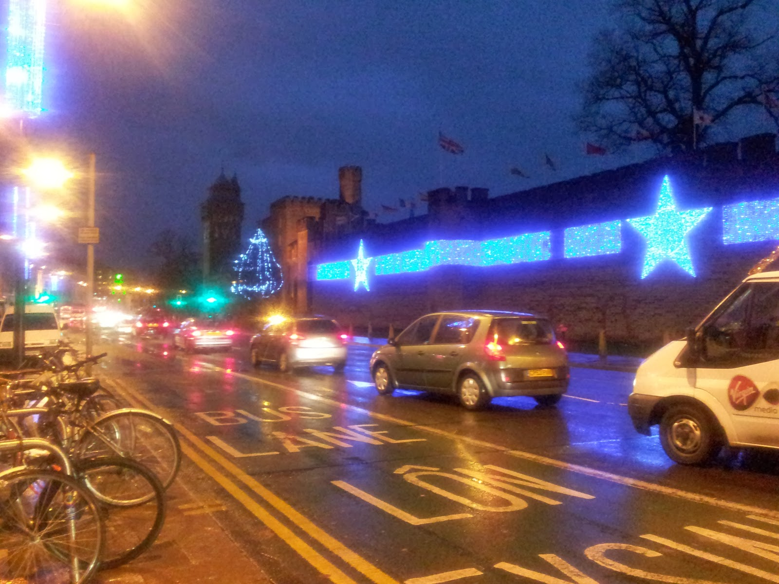 Cardiff Castle Christmas Lights