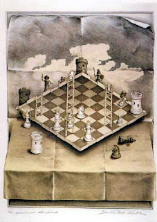 impossible chess set by Sandro Del Prete