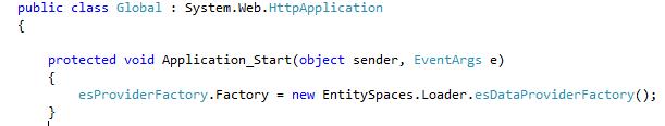 Microsoft EntitySpaces Loader Initialization