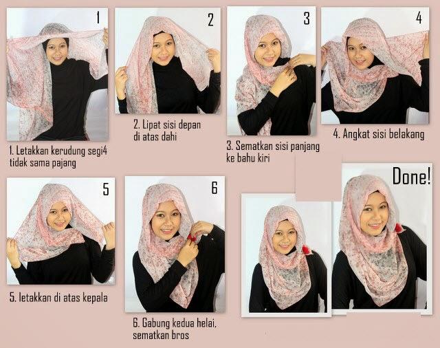 Cara Memakai Jilbab Segi Empat Terbaru Update