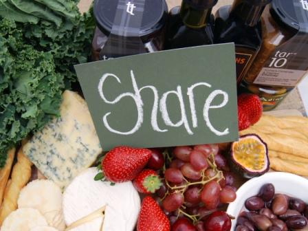 Share a wine and cheese platter with gourmet foods