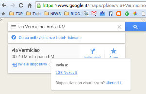 invia a Android e iPhone da Google Maps