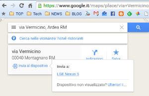 invia a Android e iPhone da Google Maps