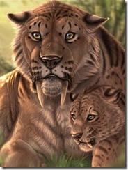 Resultado de imagen para tigre dientes de sable