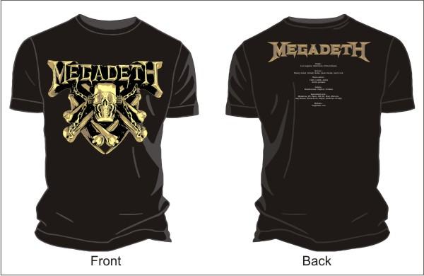 megadeth logo vector tshirts