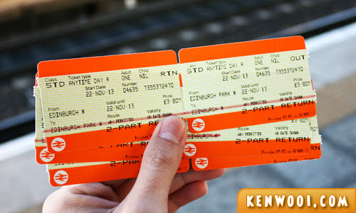 edinburgh train ticket