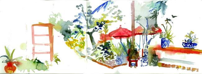 Shiho Nakaza San Diego West Coast Urban Sketchers Sketchcrawl San Diego watercolor Old Town Fiesta de Reyes