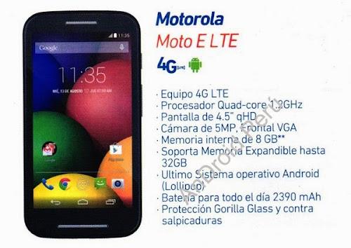 MOTOROLA MOTO E 4G LTE