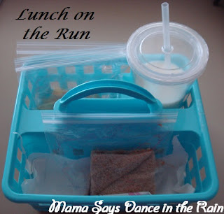 Perfect solution to lunch on the run with little ones, Mama Says Dance in the Rain