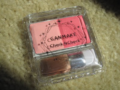 Canmake Cheek and Cheek 4 Love Blossom review swatch