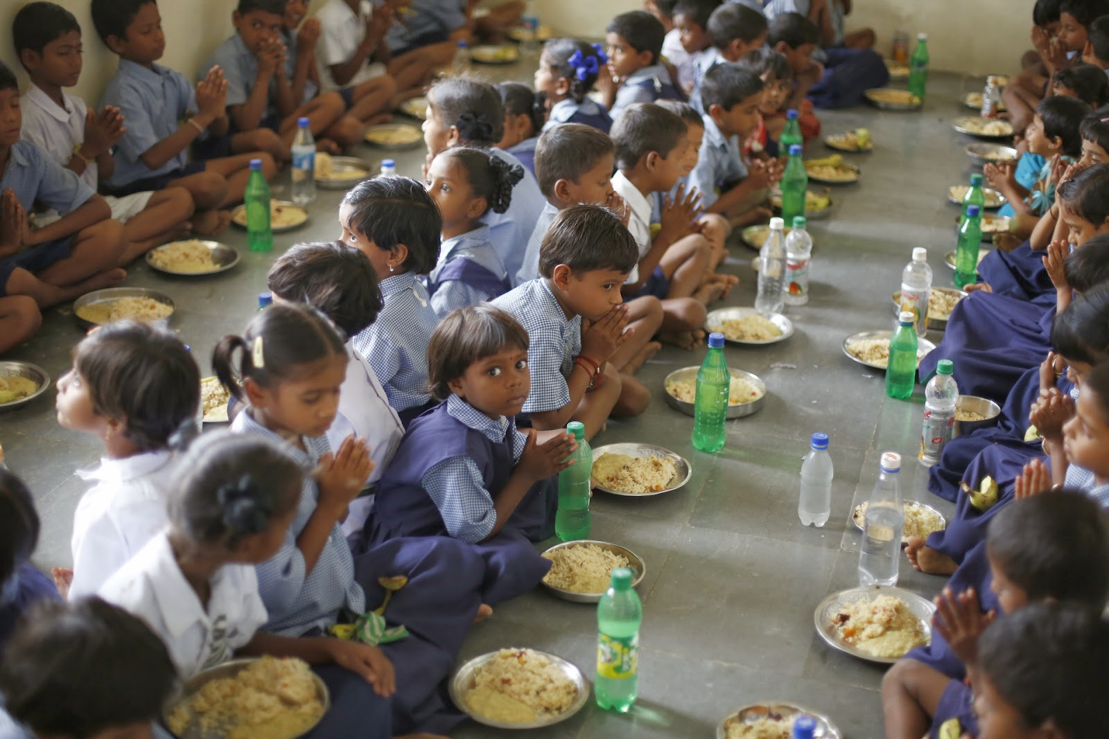 Mid day meal in Uttar Pradesh
