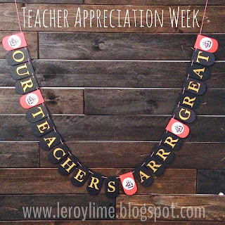 Teacher Gift - Teacher Appreciation - Pirate Banner