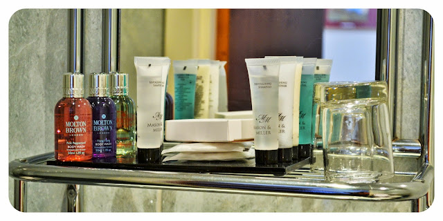 Guest toiletries in the Taynuilt Hotel