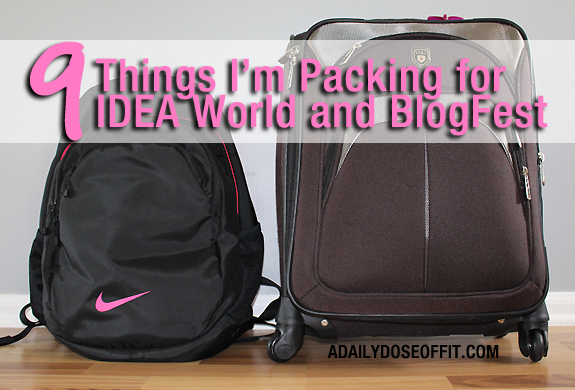 what to pack for a fitness and blog conference