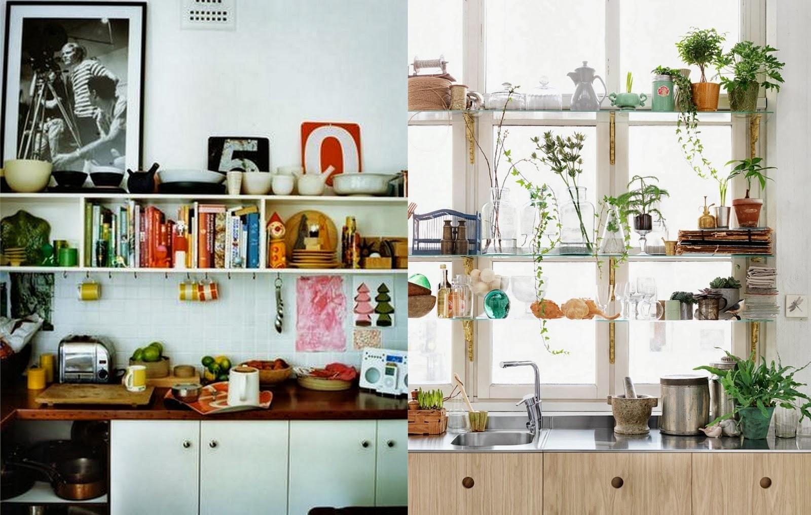 Boho Kitchen Shelving