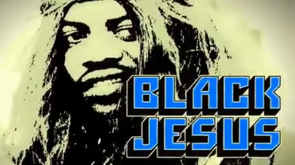 Black jesus smokin drinkin and chillin