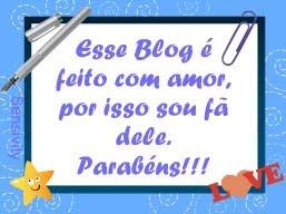 Esse blog é feito com amor...
