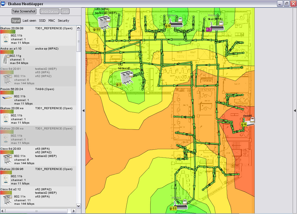 Network mapping software freeware ekahau heatmapper House map software