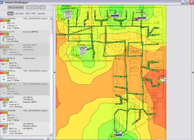 Network mapping software freeware | Ekahau HeatMapper