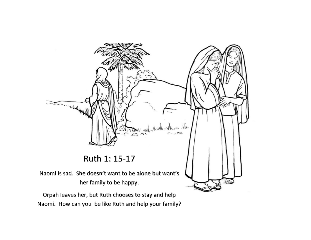 Ruth Coloring Pages Bible