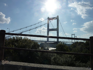 Section of the Kurushima-Kaikyo Bridge as seen on Oshima on the Shimanami Kaido bikeway
