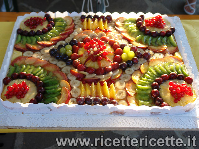 ... frutta, dalla realizzazione della base alla gurnizione marmellata e
